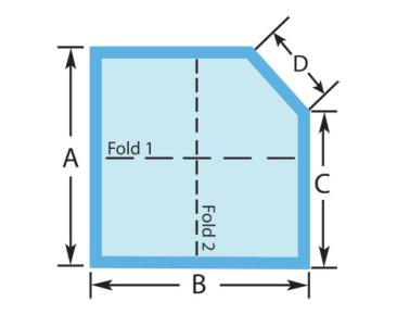 Square Cut Corner Custom Spa Cover
