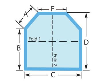 Square Two Cut Corners Custom Spa Cover