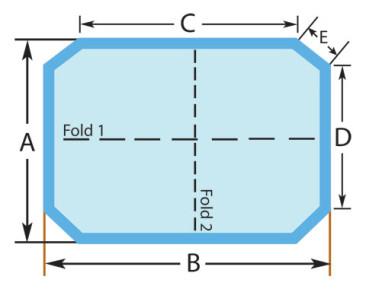 Rectangle Cut Corners Custom Spa Cover