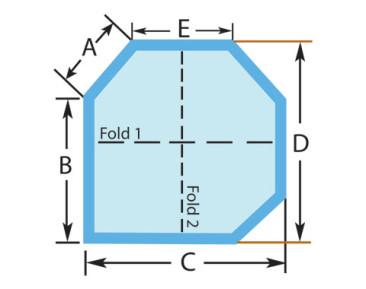 Square Three Cut Corners Custom Spa Cover
